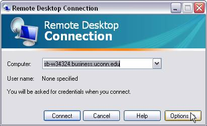 Resource center using remote desktop in mac os x to connect to.